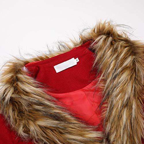 Manche Et Fourrure Confortable Au V Col Mesdames Chaud Doux Garder Automne Longue Manteau De Profond Zyg Poilue gg Section Hiver tpzwUPq