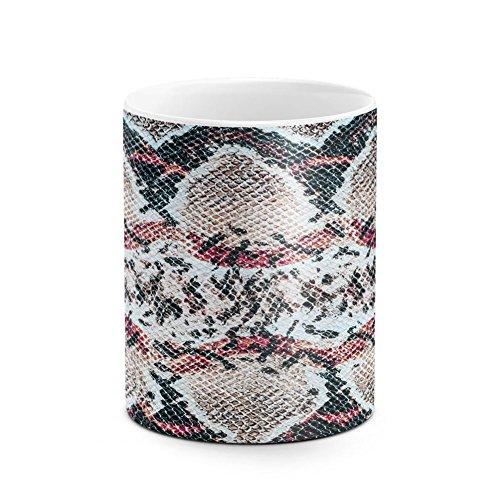 Amethyst Phyton Luxury Snake Skin Pattern Best Birthday or Anniversary Gifts Unique Present Idea Funny Christmas Gift Idea White Heat Resistant Ceramic Tea Coffee Mug - - Amethyst Lizard