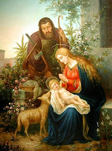 (Holy Family portrait POSTER A3 print Virgin Mary St. Joseph picture image Blessed Mother and Child Nativity scene Holy Mary painting Catholic posters prints Christmas gifts)