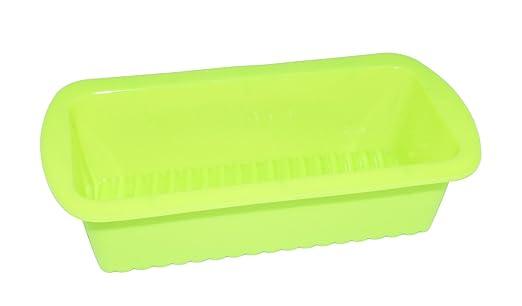 :Em Home Molde Pastelero Rectangular para Repostería de Silicona Reutilizable Horno Flexible y Elástico Antiadherente Tamaño 26,5x15x7cm (Verde): Amazon.es: ...