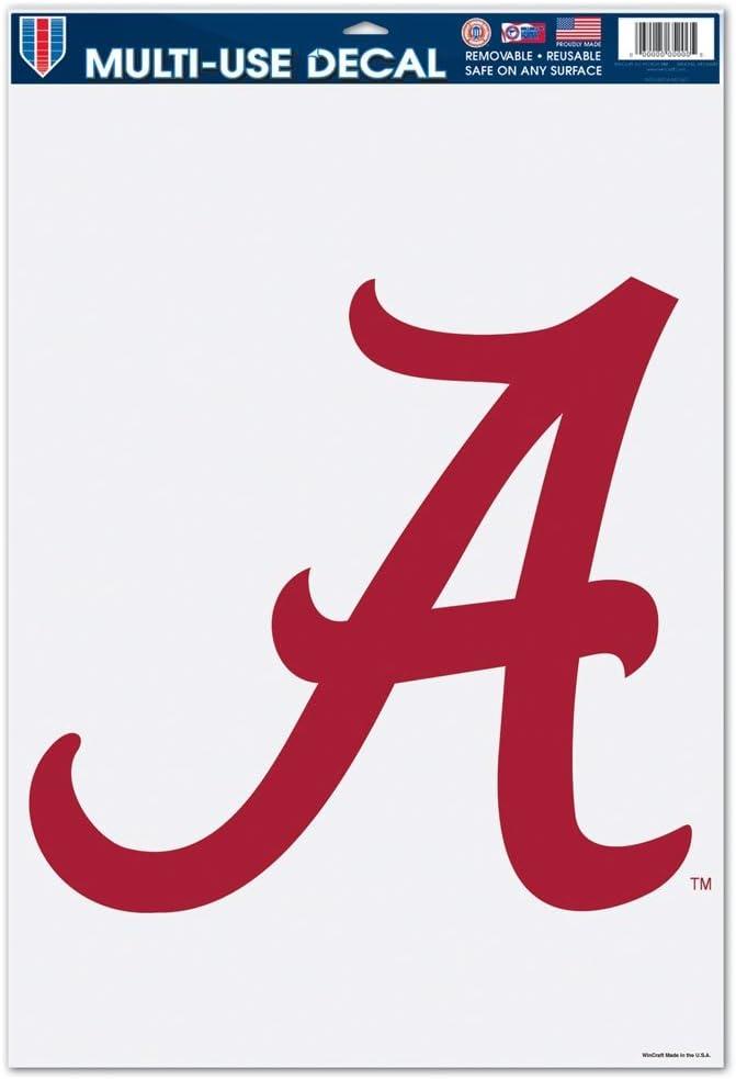 Black 11 x 17 WinCraft NCAA University of Alabama 65356081 Multi Use Decal