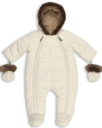 d1feec4f1145 Amazon.com  The Essential One Baby Quilt Pramsuit 9-12 Months Cream ...