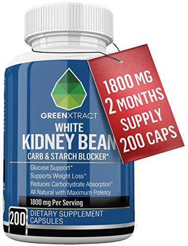 Carb Blocker - 1800 MG 66 Days Supply of Pure White Kidney Bean Extract - All Natural Weight Loss Support for Men and Women