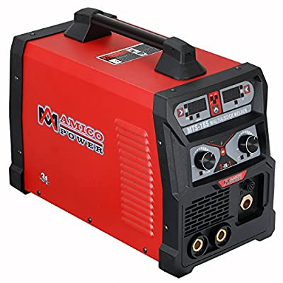 Amico MTS-185 Amp MIG/TIG/Stick Arc DC Welder, Weld Aluminum(MIG) 120/240V Dual Voltage Welding New …