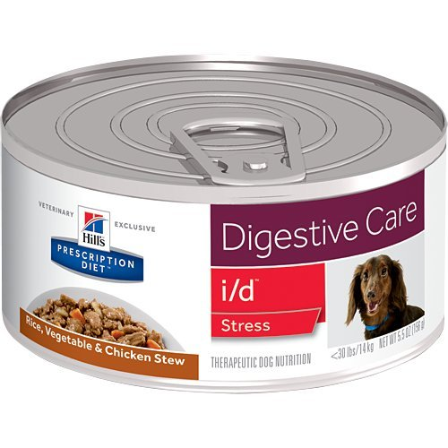 HILL'S Prescription Diet i/d Digestive Care Stress Rice, Vegetable & Chicken Stew Canned Dog Food 12/5.5 oz by HILL'S