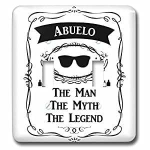 InspirationzStore The Man The Myth The Legend - Abuelo The Man The Myth The Legend - grandfather grandpa in Spanish - Light Switch Covers - double toggle switch (lsp_232447_2)