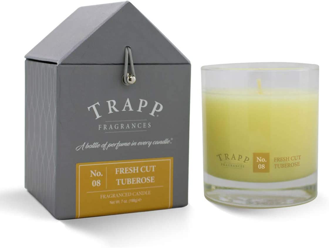 Trapp Signature Home Collection No. 8 Fresh Cut Tuberose Poured Scented Candle, 7 Ounce - Set of 2