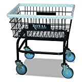 Royal Basket Trucks R27BKXWA5UN RBTR27BKXWA5UN Small Wire Laundry Cart, 21'' x 26'' x 26 1/2'', 200 lb. Capacity