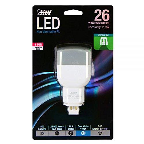 26W VERTICAL PL LED by Feit Electric MfrPartNo PL26E/V/841/LED