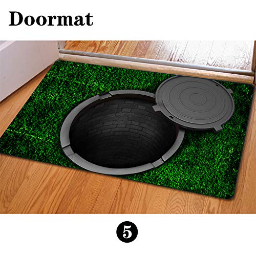 - chaqlin Christmas Manhole Cover Entrance Door Mat, 40x60cm Mouse Pad Non-Slip Welcome Front Rug, Doormat for Entry, Patio