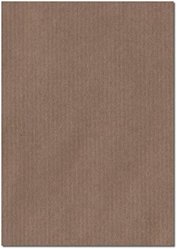 Brown Ribbed 297mm x 210mm 100gsm A4 Sheet Coloured Paper