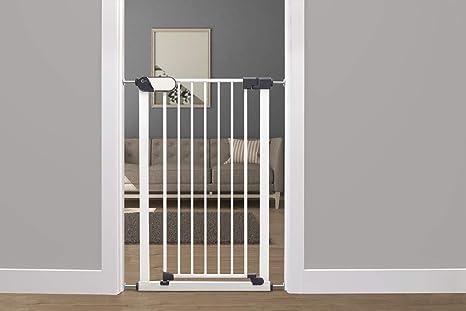 Callowesse® Saluki - Puerta de seguridad alta y estrecha (65-72cm). 96cm de alto para escaleras y aberturas. Fácil instalación. Acero de alta calidad. Adecuado para niños / mascotas.: Amazon.es: Bebé