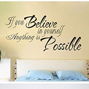 """23.6"""" X 11.8"""" Inspirational quotes wall stickers art decor ..."""