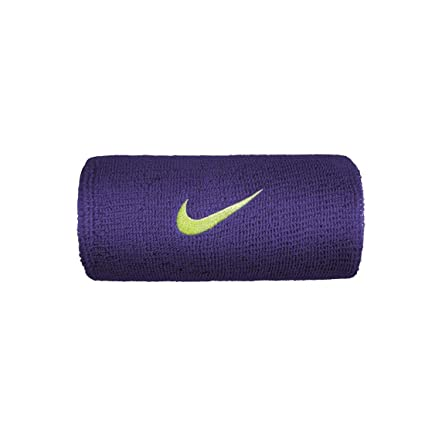 Nike Swoosh DOUBLEWIDE Wristbands OSFM Court Purple/Volt