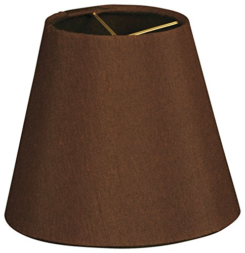 "Royal Designs 5"" Hardback Empire Dark Brown Chandelier Lamp"