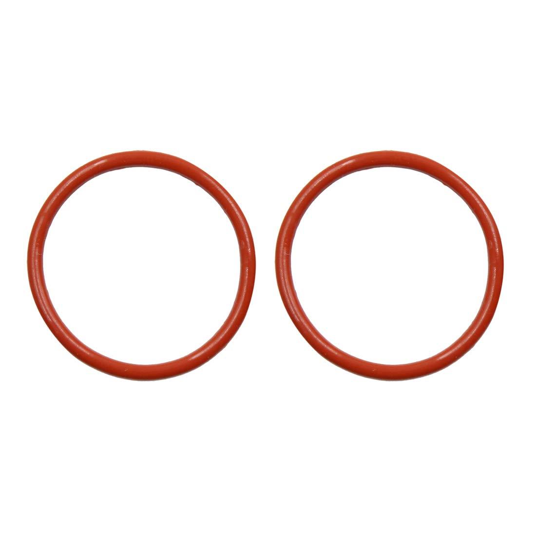 O-Ring VMQ Dichtungsscheiben Silikon Gummi 44mm x 3,1mm Braun f/ür Auto sourcing map 10 STK