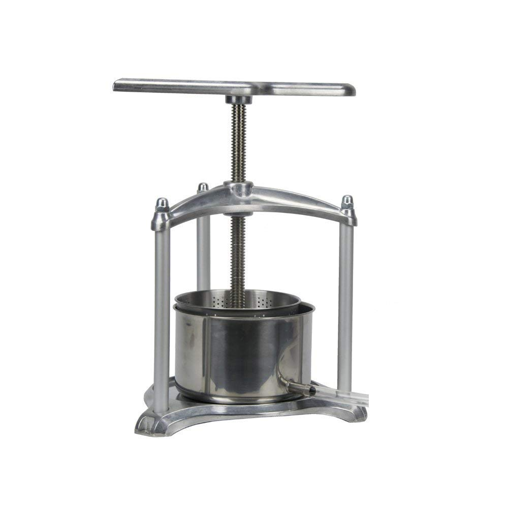 EJWOX 0.8 Gallon Aluminum Soft Fruit Wine Press, Cheese Press Cherries Press Berries Press Herbal Press Tincture Press by EJWOX (Image #2)