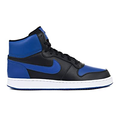 new style f3637 594dd Nike Ebernon Mid, Sneakers Basses Homme, Multicolore (Black Game Royal White