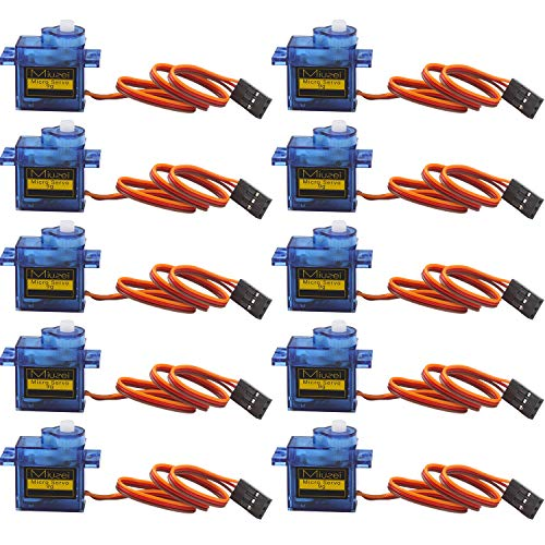 10 pcs SG90 9G Micro Servo Motor Kit for RC Robot Arm Helicopter Airplane Remote Control ()