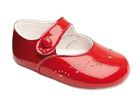 Baypods carrito para zapatos para bebé niña – Cierre de Botones con agujero y pétalos detalle