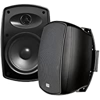 AP650 6.5-Inch 150W High Performance Composite Resin Low Resonator Cabinet 2-Way Indoor/Outdoor Weather-Resistant Patio Speakers - OSD Audio - (Pair, Black)