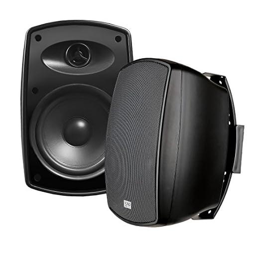 AP650 6.5-Inch 150W High Performance Composite Resin Low Resonator Cabinet 2-Way Indoor/Outdoor Weather-Resistant IP6X Patio Speakers - OSD Audio - (Pair, Black)