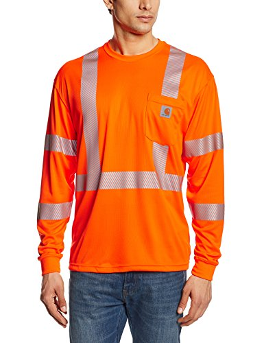 Carhartt Men's High Visibility Force Long Sleeve Class 3 Tee,Brite Orange,XX-Large
