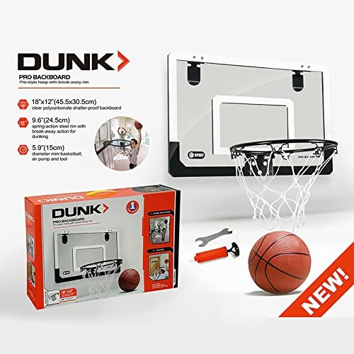 Lopbinte Basketball Hoop With Ball 18 inch x12 inch Shatterproof Backboard