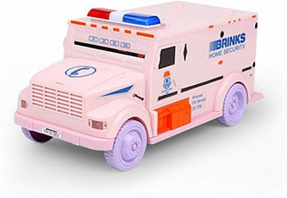 Camion de Tr/ésorerie Tirelire avec Mot de Passe Mini ATM Cash Tirelire Pot Jouet /éducatif pour Enfants Adultes Rose Konesky Tirelire