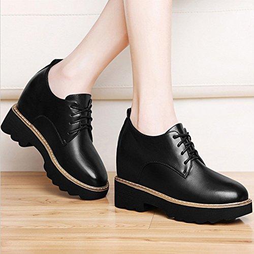 l Eu40 Zapatos 5 Vino Botines Moda Grueso 7 Mujer Tamaños Fondo color Liangjun Tamaño Negro uk6 Tinto 250mm Z6wqx75z