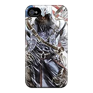 New Cute Funny Assassins Creed 3 Connor Kenway Case Cover/ Iphone 4/4s Case Cover