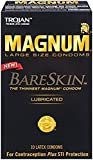 Trojan Magnum Bareskin Condoms, 10 Count (6 Pack)
