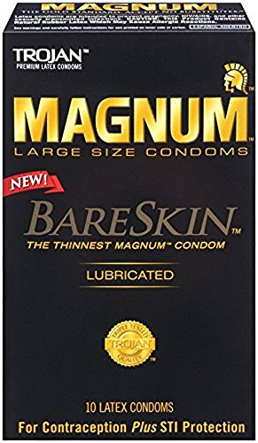 Trojan Magnum Bareskin Condoms, 10 Count (6 Pack) by CHURCH & DWIGHT/ ARM & HAMMER