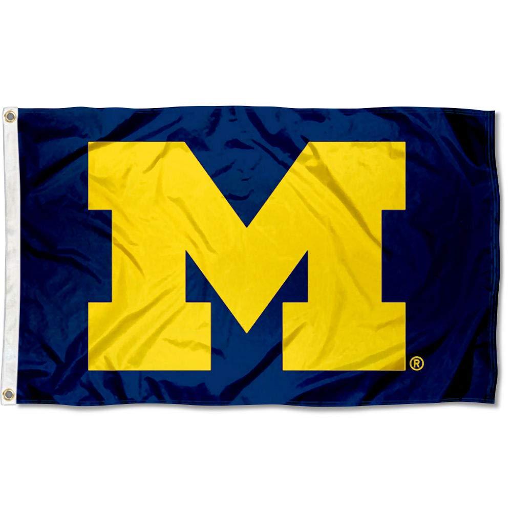 Michigan Wolverines University Large College Flag