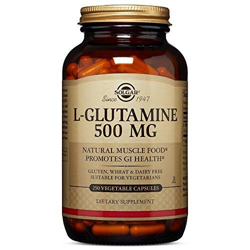Solgar, L Glutamine 500 mg 250 Vegetable Capsules