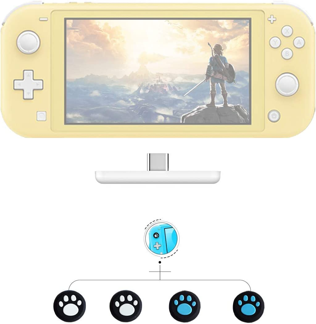 GULIkit Adaptador Bluetooth para Nintendo Nintendo Interruptor/Switch Lite transmisor de Audio inalámbrico ps4 pc airpods - Blanco/Rojo