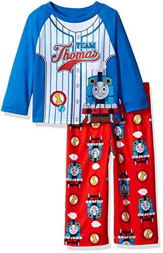 Nickelodeon Baby Boys' Thomas The Train 2-Piece Pajama Set, Team Stripes, (Ames Stripe)