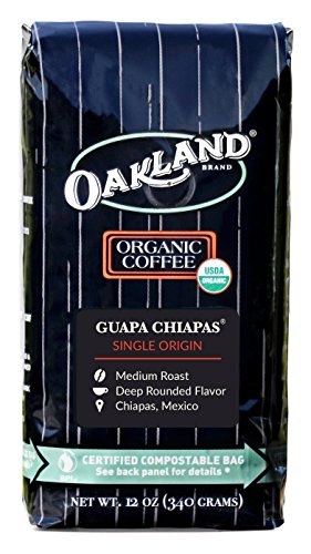 Oakland Coffee Works, Organic, Guapa Chiapas, Single-Origin, Certified Compostable Bag, 12 Ounce, Whole Bean