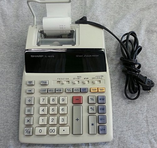 Sharp El-1801piii 12 Digit, 2 Color Printing Calculator
