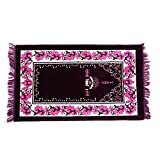 Kicode Muslim Prayer Rugs Velvet Thick Fabric Classic Islam Mat Musala Cotton Printed