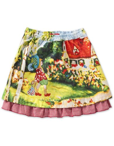 Oilily Baby Girls' Sky  Skirt, Giant Gnome, 18 Months