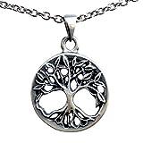 Viking Celtic Yggdrasil Tree of life Bonsai Pagan silver pewter pendant charm