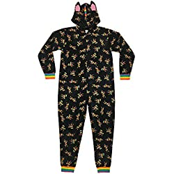 MJC - Disfraz de Overol para Hombre, Muy Suave, de Cuerpo Entero, Rainbow Unicorn, XX-Large/XXX-Large