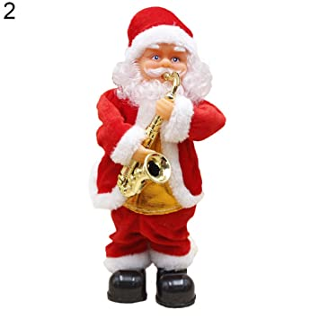 Lovely Santa Claus - Muñeca eléctrica para Guitarra, Juguete de Navidad para niños: Amazon.es: Hogar