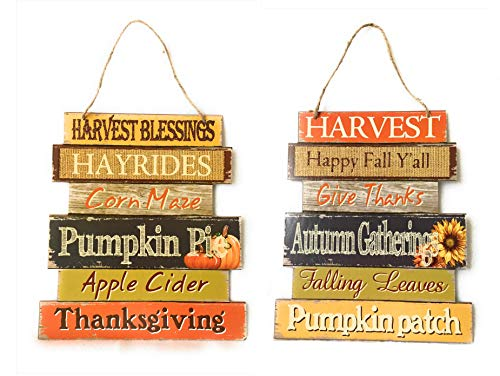 Fall Decoration Wooden Hanging Sign – Autumn Harvest