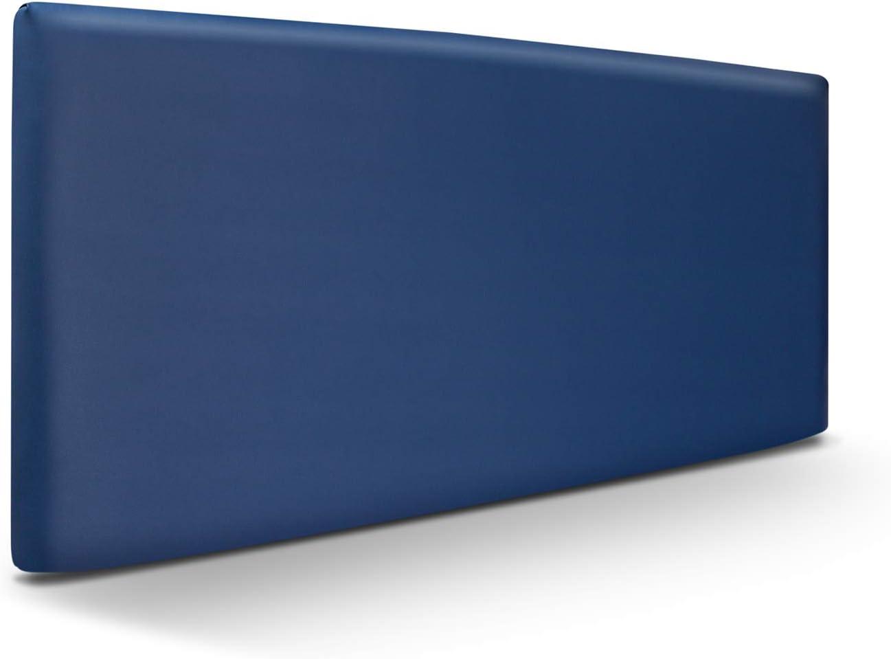 SUENOSZZZ-ESPECIALISTAS DEL DESCANSO Cabecero de Cama Liso tapizado en Polipiel para Camas de 90 (100 x 57 cm) Polipiel Azul