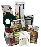 Canning Supplies Jars 16 oz, Kit with Bread and Butter Pickle Spices and Canning Tools and Gift Cards