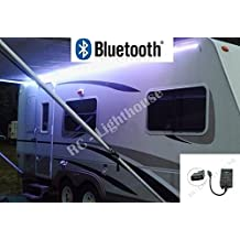 RV Awning Camper recreational vehicle Black Bluetooth Controller for RGB LED Lights 16.4' feet of LED Strips