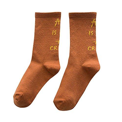 Womens Vintage Style Winter Warm Thick Knit Socks Fashion Creative Women Men's Cotton Letter Floor Heap Socks ☀️ HunYUN☀️ -