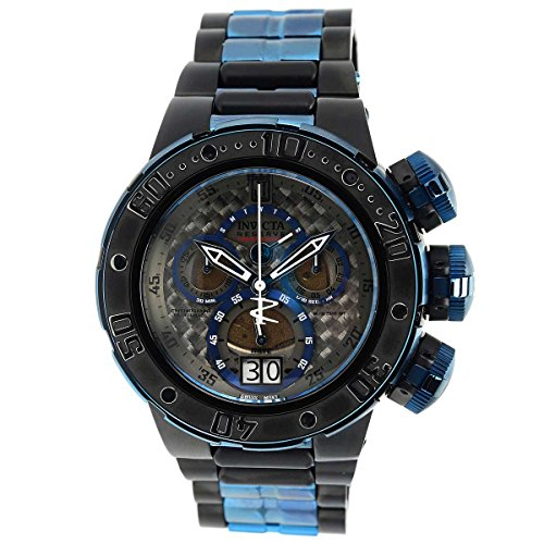 Invicta 22271 Men's Jason Taylor Black Carbon Fiber Dial Two Tone Bracelet Chronograph Dive Watch